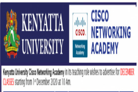 Kenyatta University Cisco Networking Academy DECEMBER CLASSES